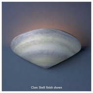 Justice Design 3710 Ambiance Clam Shell Wall Sconce