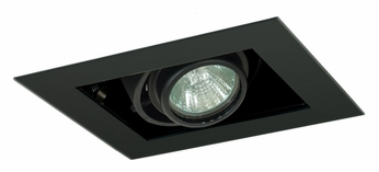 Jesco MG1650-1EBB Double Gimbal New Construction Black 1 Lamp Recessed Light Fixture