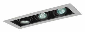 Jesco MG1650-3ESB Double Gimbal 3 Lamp New Construction Silver/Black Recessed Lighting