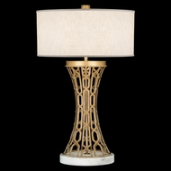 Fine Art Lamps 784910-2 Allegretto Gold Contemporary Concave Table Light