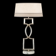 Fine Art Lamps 785010 Allegretto Silver Contemporary Lighting Table Lamp