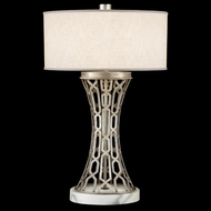 Fine Art Lamps 784910 Allegretto Silver Contemporary Concave Table Light