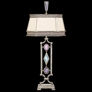 Fine Art Lamps 729810-1 Encased Gems Silver Table Light with Multi-Color Crystal