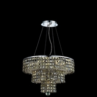 Elegant 2037D20C-GT-RC Maxim 20  Small Chrome Chandelier Lamp with Golden Teak Crystals