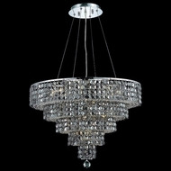 Elegant 2037D26C-SS-RC Maxim Medium 26  14-light Square Silver Shade Crystal Chandelier Lighting in Chrome