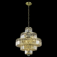 Elegant 2038D20G-RC Maxim 20  13-light Small Crystal Gold Chandelier