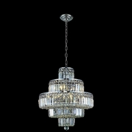 Elegant 2038D20C-RC Maxim Small 20  Diamond Chandelier - Chrome and Crystal