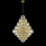 Elegant 2038D30G-RC Maxim Medium 30  20-lamp Gold Chandelier withh Clear Crystal