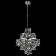 Elegant 2039D20C-SS-RC Maxim Small 20  13-lamp Silver Shade Chrstal Ceiling Chandelier