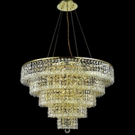 Elegant 2037D30G-RC Maxim Gold 30  17-light Square Crystal Dining Chandelier