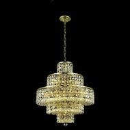 Elegant 2039D20G-RC Maxim Small Gold 13-light Crystal Glass Chandelier