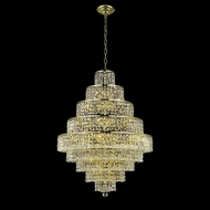 Elegant 2039D30G-RC Maxim Medium 20-light Gold Chandelier Lamp with Crystal