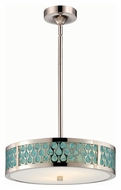 Nuvo 62-146 Raindrop 15 Inch Diameter Polished Nickel Finish Drop Lighting Fixture - LED