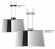 Besa Groove Modern 7 Inch Diameter Hanging Pendant Light With LED Option