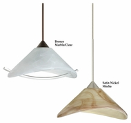Besa Hoppi 7 Inch Diameter Contemporary Drop Ceiling Light Fixture With Optional LED