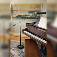 House of Troy PFL-617 Grand Piano Black & Brass 26 to 54 Inch Tall Adjustable Piano floor Lamp