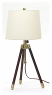 House of Troy TR250-AB Tripod Adjustable 27 to 32 Inch Tall 3 Legged Table Top Lamp - Antique Brass