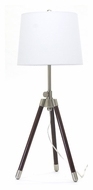 House of Troy TR250-SN Tripod Satin Nickel Finish 27 to 32 Inch Tall Living Room Table Lamp