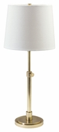 House of Troy TH750-RB Townhouse Transitional Raw Brass Finish Adjustable 23 to 28 Inch Tall Table Lamp Lighting