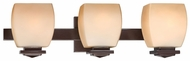 Lite Source LS16963 Orazio Large 3-light Bronze Bath Lighting