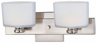 Maxim 9002SWSN Essence Small Satin Nickel 2-lamp Contemporary Bathroom Light Fixture