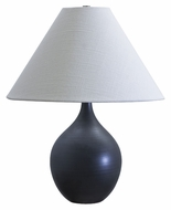 House of Troy GS200-BM Scatchard Transitional Stoneware Black Matte Lighting Table Lamp