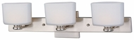 Maxim 9003SWSN Essence 3-lamp Medium Modern Vanity Lighting in Satin Nickel