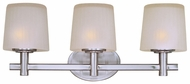 Maxim 21513FTSN Finesse Medium 3-lamp Satin Nickel Lighting for Bathroom