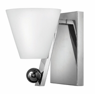 Fredrick Ramond 52120PCM Milan Contemporary Chrome Wall Sconce with Shade