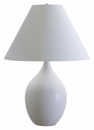 House of Troy GS400-WM Scatchard White Matte Finish Large 28 Inch Tall Table Lamp Lighting