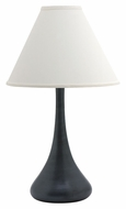House of Troy GS801-BM Scatchard Narrow Body Black Matte 26 Inch Tall Stoneware Table Light