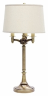 House of Troy L850-AB Lancaster 3 Arm 31 Inch Tall Traditional Antique Brass Table Lamp