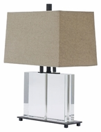 House of Troy M554-OB Marquis 19 Inch Tall Oil Rubbed Bronze Finish Clear Body Contemporary Table Lamp