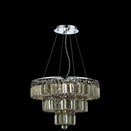 Elegant 2036D20C-GT-RC Maxim 16  9-light Small Chrome Chandelier with Golden Teak Crystals