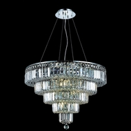 Elegant 2036D26C-RC Maxim 14-lamp Crystal Chandelier Light - Chrome with Clear Crystals
