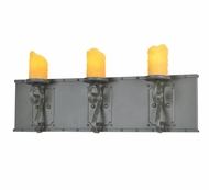 Meyda Tiffany 108690 Carpathian 31 Inch Wide Wrought Iron Faux-Candle Vanity Light
