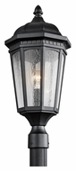 Kichler 9532BKT Courtyard Small 23 Inch Tall Textured Black Post Lighting