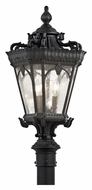 Kichler 9558BKT Tournai Small Traditional Textured Black 27 Inch Tall Post Light Fixture - Outdoor