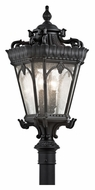 Kichler 9559BKT Tournai Exterior 30 Inch Tall Medium 4 Lamp Post Lamp Lighting