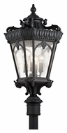 Kichler 9565BKT Tournai 37 Inch Tall 4 Lamp Textured Black Outdoor Post Lighting