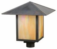 Meyda Tiffany 113385 Square Seneca Plain 23 Inch Wide Craftsman Lamp Post Light