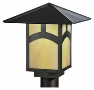 Meyda Tiffany 111922 Square Seneca Hill Top 12 Inch Tall Craftsman Lamp Post Light