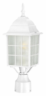 Nuvo 604907 Adams White Finish Traditional 18 Inch Tall Post Lamp