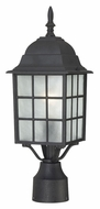 Nuvo 604909 Adams Traditional Style 18 Inch Tall Textured Black Post Lighting