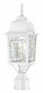 Nuvo 604927 Banyon Traditional 17 Inch Tall Outdoor Lighting Post Light - White