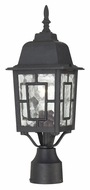 Nuvo 604929 Banyon 17 Inch Tall Water Glass Textured Black Lamp Post Light