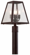 Troy PCD3435 Amherst 15 Inch Tall Wrought Iron 4 Lamp Outdoor Post Light