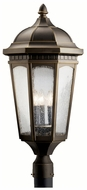 Kichler 9533RZ Courtyard Large 3 Light Traditional Bronze Post Lamp