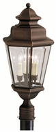 Kichler 9931OZ Savannah Estates Traditional Olde Bronze Exterior Post Lamp Lighting