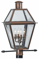 Quoizel RO9014AC Rue De Royal 36 Inch Tall Copper Lantern Outdoor Post Light